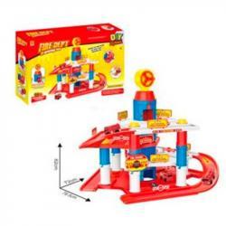 Детский игровой гараж Пожарная станция 2 этажа, 866-40