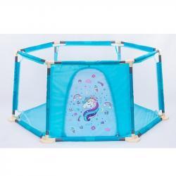 Детский манеж Единорог голубой, RE333-12