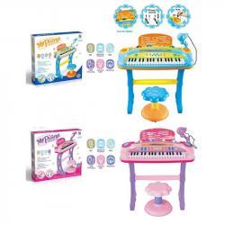 Детский синтезатор 37 клавиш со стульчиком, 6617-6617A