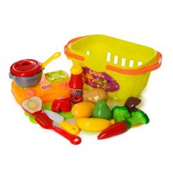 Детский игровой набор продуктов с посудкой 1257