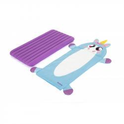 Детский надувной матрас 76х132х10см  Единорог  со спальным мешком Bestway 68111