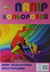 Бумага цветная Колорит двустороняя А4 9 листов, БЦ-9дв