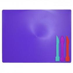 Доска пластилина ZiBi 25х19.3см 3 стеки фиолетовый, ZB.6910-07