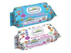 Влажные салфетки для детей 120 штук Florika с клапаном