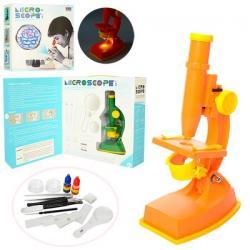 Микроскоп (инструменты, линзы, 2 цвета, свет, бат.) 3102C