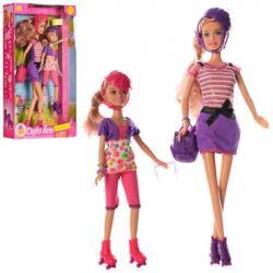 Кукла 2 шт. 30см и 22см, рюкзак, очки, DEFA 8130