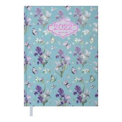 Ежедневник датированный А5 Blossom голубой BUROMAX ВМ.2136-14