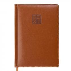 Ежедневник датированный А5 Bravo Soft коньячный BUROMAX ВМ.2112-41