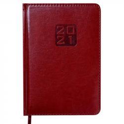Ежедневник датированный А5 Bravo Soft бордовый BUROMAX ВМ.2112-13