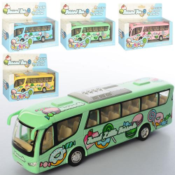 Машина металлическая инерционная Автобус Dessert Bus 17,5см KS7103W