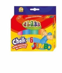 Мел 6 цветов цветная круглая JUMBO 7605