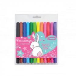 Фломастеры 12 цветов  Bunny  1Вересня 650446