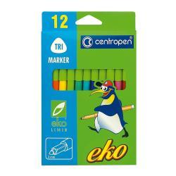 Фломастеры 12 цветов  ECO  Centropen 2560/12