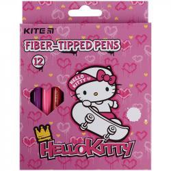 Фломастеры 12 цветов  Hello Kitty   Kite, HK21-047
