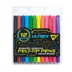 Фломастеры 12 цветов  Ultrex  YES 650391