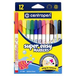 Фломастеры 12 цветов  Super Easy  Centropen 2580/12
