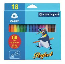 Фломастеры 18 цветов  Perfect  Centropen  2510-18