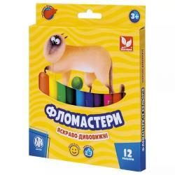 Фломастеры 12 цветов ШКОЛЯРИК 314110003-UA