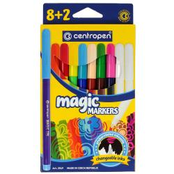 Фломастеры 8+2 цветов  Magic  Centropen 2549-10