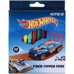 Фломастеры 12 цветов Hot Wheels Kite, HW21-047