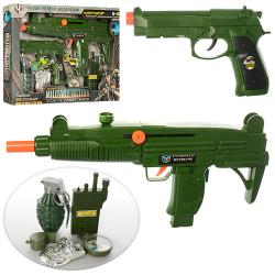 Набор военного (автомат, пистолет, граната, рация, компас, трещотка) M014