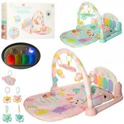 Коврик для младенца 74-47, дуга, пианино, проектор ночного неба, 4 подвески, 681-682