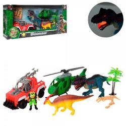 Игровой набор Dinosaur World транспорт с динозаврами, 2121-25C