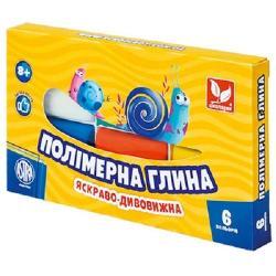Глина для лепки полимерная 6 цветов ШКОЛЯРИК 83911901-UA
