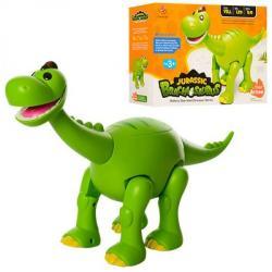 Динозавр (ходит, подвижная челюсть и хвост, муз., Свет, бат) 801