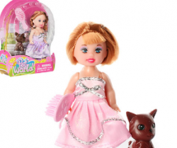 Кукла 10см. DEFA (собачка, расческа) 2 вида в бліст. 267