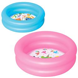 Бассейн BW, круглый, 2 кольца, 2 цвета, детский , 51061
