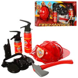 Набор пожарного XY807 каска, маска, огнетушитель 2 шт., Топор, кор., 61-33-6 см.