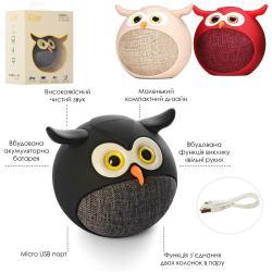 Колонка сова (аккум., Bluetooth, возможно зьедн.двох колон.в пару, USB) MB-M916