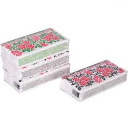 Салфетки-платочки бумажные, однослойные микс