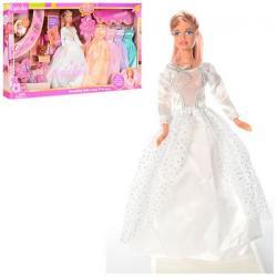 Кукла 29см с нарядом (4 дополнительных платье, аксессуары, кот 3,5см., Обувь), DEFA, 6073B
