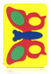 Мозаика-вкладыш мягкая Бабочка