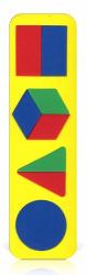 Мозаика-вкладыш мягкая Геометрические фигуры сложные