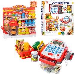 Магазин (касса 22см, корзина, продукты, калькулятор, сканер) 6615