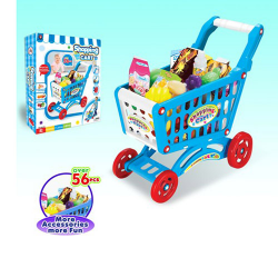 Тележка супермаркет, продукты, 56 деталей 922-10в