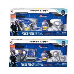 Набор с оружием Полиция, автомат-трещотка, маска, P018AB