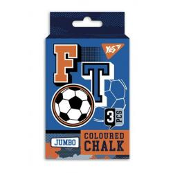 Мел YES JUMBO Football 3 шт. цветной 400383