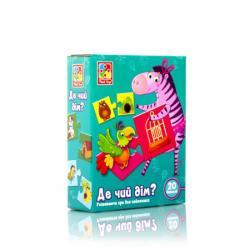 Игра развивающая Vladi Toys Где чей домик?, VT1804-30