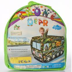 Детская игровая палатка Военная машина MR 0343