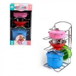 Игровой набор металлической посуды, 988-A4