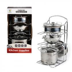 Игровой набор металлической посуды, 988-C12