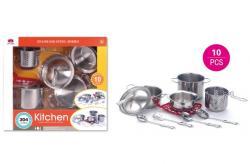 Игровой набор металлической посуды Kitchen, 555-BX014