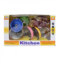 Игровой набор металлической посуды Kitchen, 555-CS002