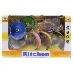Игровой набор металлической посуды Kitchen, 555-CS006