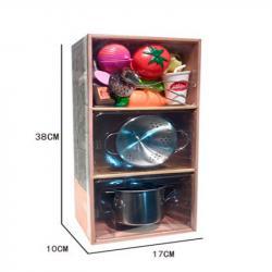 Игровой набор металлической посуды с продуктами, YH2018-2F
