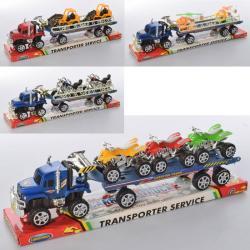Игрушечный набор трейлер с транспортом, 3981K-2ABDE